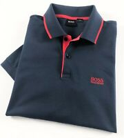 Hugo Boss Polo Shirt Men's Firenze 33 Navy Regular Fit 50268712