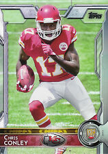 2015 TOPPS ROOKIE RC #399 CHRIS CONLEY CHIEFS *7078