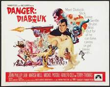 DANGER: DIABOLIK Movie POSTER 22x28 Half Sheet John Phillip Law Marisa Mell