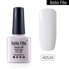 BELLE FILLE Nail Polish Soak Off UV LED Gel Base Top Coat Manicure UV 79 Colors