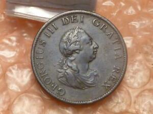 Original 1799 George III Colonial Times Halfpenny Higher Grade #KK