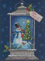 "Dimensions Counted Cross Stitch Kit 9""X12"" Snowman Lantern (14 Co 088677089870"