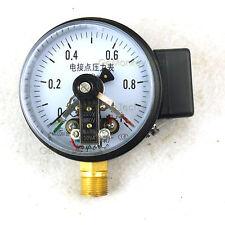"4"" Magnetic Help 100mm Electric Contact Pressure Gauge Manometer 1Mpa 30VA"