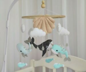 Ocean Baby mobile Whale Narwhal Dolphin Mobile baby Mobile nursery