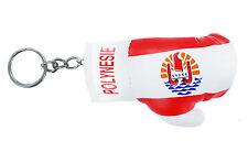 Keychain Mini boxing gloves key chain ring flag key french polynesia tahiti