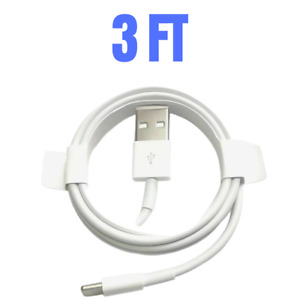 3/6 Ft USB Fast Charger Cable Cord For iPhone 12 11 Pro 8 Plus XR Charging Cord