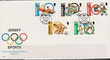 GB - JERSEY 1994 Sports International Olympic Committee Centenary SG 665-669 FDC