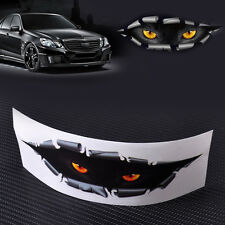 3D Eyes Peeking Monster Car Trunk Thriller Rear Window Decal Scary Stickers New