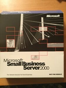 Authentic Microsoft Small Business Server 2000 NFR. 6CDs +Keys. Never Used