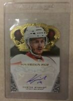 2013-14 Panini Sovereign Sigs Crown Royale Gustav Nyquist, autographed RC.