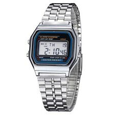 LED Electronic Digital Stainless Steel Men Women Kids Watches Casual Style