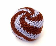 Hacky Sack Boota Bag Crochet Footbag Guatemalan New Multi Color Brown Light Blue