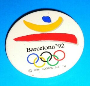 1992 Olympic Games Barcelona Olympic Original with Olympic Logo Badge Pin Button
