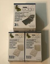 Fluval Edge Carbon Sachet (3)  A1379 + Foam Biomax Renewal Kit A1389 x 2 New in