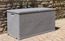 XL Size Outdoor Garden Storage Chest Cushion Box 420 Litre Warm Grey Multibox