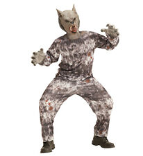 Werwolf Kostüm Verkleidung Jacke Hose Maske Wolf Karneval Größe 140 8-10 years