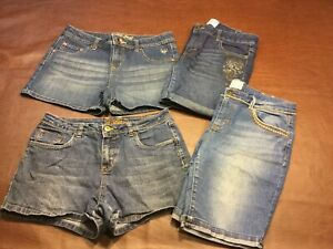 Girls Lot of 4 Justice & Canyon River Blues Shorts ~ Size 16 Regular Youth