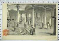 Original Old Antique Print Interior Museum Practical Geology Great Hall 1851