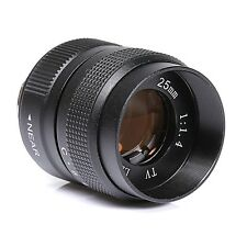 Fujian 25MM f/1.4 CCTV Lens body EOSM NEX N1 FX Micro4/3 Mount Camera Black