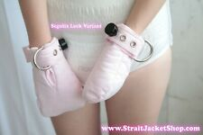 Pink ABDL Safety Mittens - Restraining soft padded mittens
