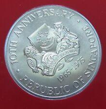 Singapore 1975 $10 coin Uncirculated Ship 0.5 Silver