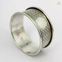 GEORGE V STERLING SILVER NAPKIN RING Birmingham 1920 William Hair Haseler