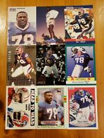 Bruce Smith HOF - NICE 9 CARD LOT Buffalo Bills / Virginia Tech