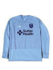 New listing San Jose Earthquakes MLS Adidas Men's Grey Climacool Long Sleeve Training Jersey