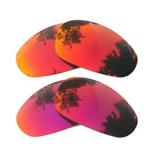 2 Pairs Orange Red&Midnight Sun Replacement Lenses for-Oakley Juliet Polarized