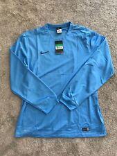 Men's Nike Striped Segment Football Long-Sleeve Top Blue Size UK Extra Large XL