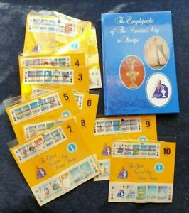 America's Cup in Stamps with Stamps in Packs The Encyclopaedia