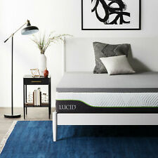 LUCID 2, 3, 4 Inch Gel, Bamboo Charcoal, and Lavender Infused Mattress Toppers