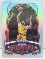 Anthony Davis 2019-20 Panini Chronicles Marquee Silver Holo Foil Card 260 Lakers