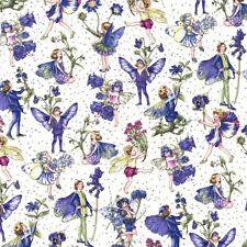 Fat Quarter Periwinkle Petites Flower Fairy Fairies 100 Cotton Quilting Fabric