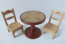 Playmobil Dollshouse/cafe/hotel furniture: Pretty dining table & two chairs NEW