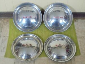 "49 50 DeSoto HUBCAPS 15"" Set of 4 Wheel Covers 1949 1950 Hub Caps"
