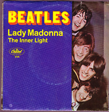 Beatles Lady Madonna/The Inner Light 45 RPM w Picutre Sleeve- Capitol Release