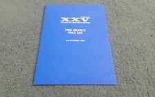 October 1983 1984 VOLVO UK PRICE LIST BROCHURE 300 340 360 240 260 760