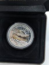 2013 Australian Saltwater Crocodile 'Bindi'- $1 Colour Printed Silver Proof Coin