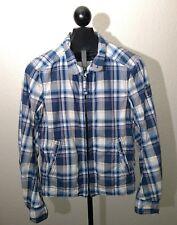 Abercrombie & Fitch Mens Hamilton Jacket Plaid Coat Sz Medium Zipper Lightweight