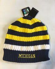 Michigan Wolverines ADIDAS Knit Beanie Toque Skull Winter Hat Cap Reversible Rib