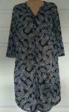 bnwt H&M SHIRT DRESS XS UK 6/8 BLACK WHITE PINEAPPLES PRINT 3/4 SLEEVES L/WEIGHT