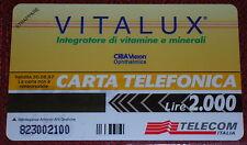 VITALUX INTEGRATORE VITAMINE ( GOLDEN PRP 271 ) SCHEDA TELEFONICA TELECOM NUOVA
