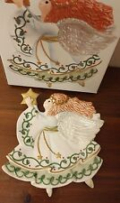 Fitz and Floyd Moon Beams Canape Plate Christmas Angel holding Star