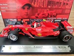 Kimi raikkonen 1/18 F2007 Car 2007 Hat Trick