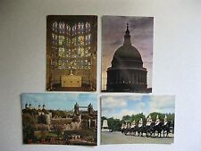 J. Arthur Dixon postcards 4 diff. London scenes Westminster Abbey St Paul's Etc
