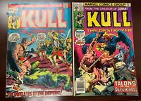 Kull the Conqueror (1971 series) #7 & #22 in Very Fine condition. Marvel comics
