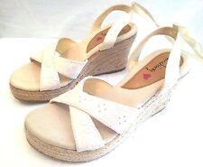 "LUICHINY- Women Premium Size ""5M"" BEIGE Platform Wedge Open Toe Shoes  SPECIAL"