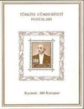 TURKEY 1943, SOUVENIR SHEET WITH THE PORTRAIT OF INONU, MICH# BLOCK 2, MNH
