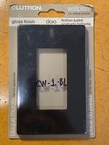 NEW Lutron Claro CW-1-BL BLACK Gloss Finish 1 Gang Wallplate Original